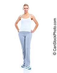 Mujer en forma.