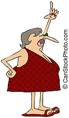 Mujer en traje de baño