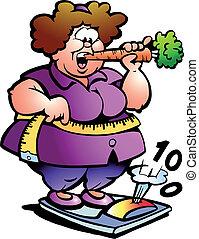 Mujer gorda del vientre