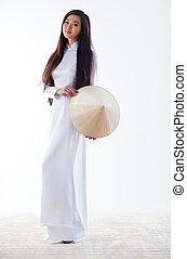 mujer, joven, vietnamita