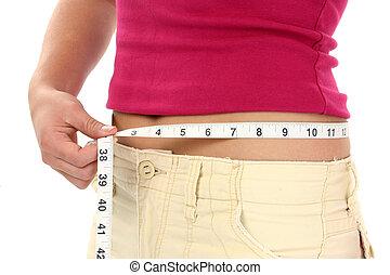 Mujer peso adolescente