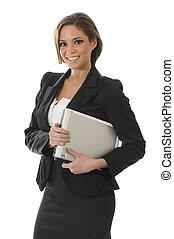 Mujer profesional de blanco