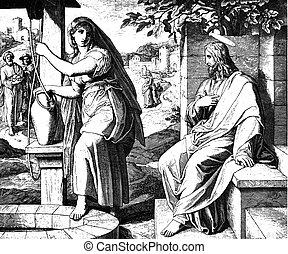 mujer, samaritan, jesús
