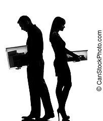 mujer, separación, pareja, divorcio, un hombre