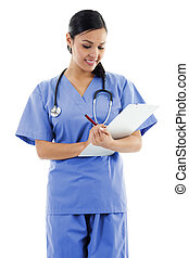 Mujer trabajadora de la salud