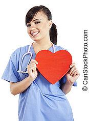 Mujer trabajadora sanitaria