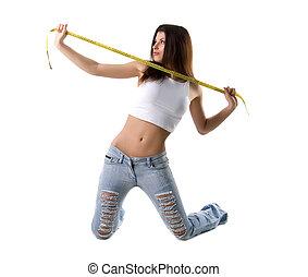 Mujer y cinta medida