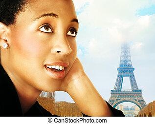 Mujer y Paris