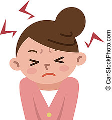 mujeres, énfasis, frustrado