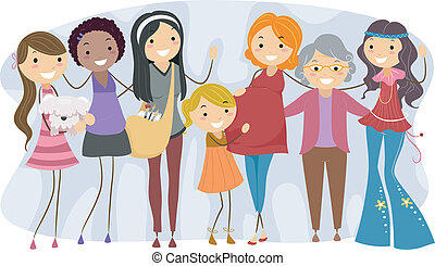 Mujeres de diferentes generaciones