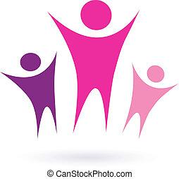 Mujeres de grupo / icono de la comunidad
