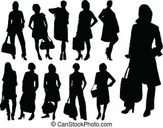 Mujeres de negocios, vector