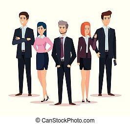 Mujeres de negocios y empresarios exitosos profesionales
