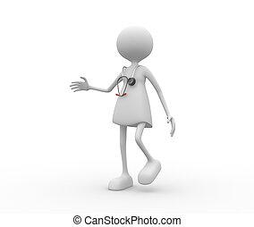 Mujeres doctoras con estetoscopio.