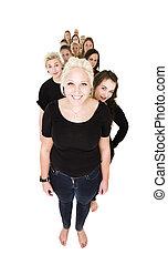 Mujeres en fila
