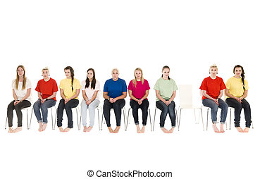 Mujeres en sillas