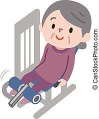 Mujeres mayores haciendo ejercicio