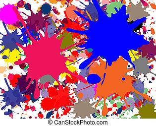 Multi-color salpicado
