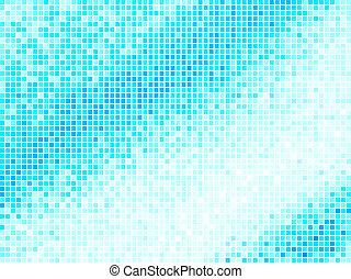 Multicolor abstracto de azulejo azul. Vector mosaico cuadrado