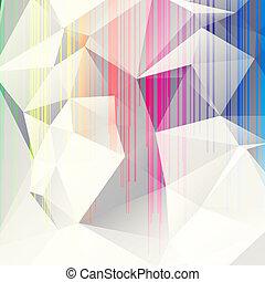 Multicolorado fondo abstracto de triángulos