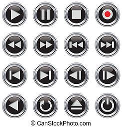 Multimedia control del icono/botón