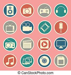 multimedia, icono