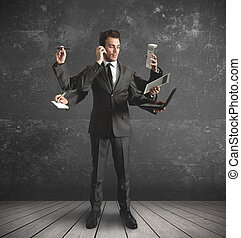 Multitasing empresario
