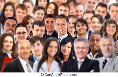 multitud, empresarios