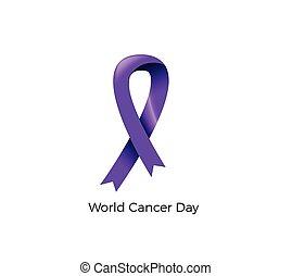mundo, conocimiento, vector, cáncerde próstata, azul, illustration., día, ribbon., concept.