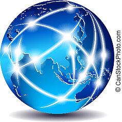 Mundo de comunicaciones, muy al este