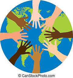 mundo, encima, diversidad