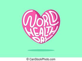 mundo, hogar, vector, rosa, día, salud