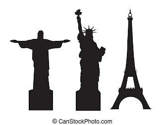 mundo, monumentos