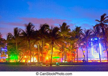 mundo, restaurantes, ocaso, hermoso, hoteles, prístino, tiempo, playa, vida nocturna, florida, es, playas, unidad, miami, océano, famoso, destino