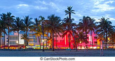 mundo, tiempo, arquitectura, hoteles, prístino, famoso, deco, playa, océano, destino, restaurantes, ocaso, hermoso, unidad, miami, arte, vida nocturna, florida, es, playas