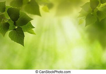 Mundo verde, fondo ambiental abstracto para tu diseño