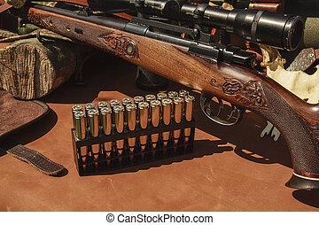 munición, rifle