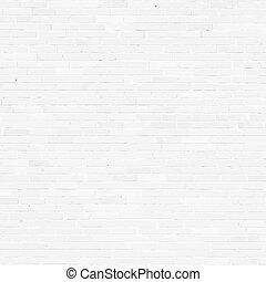 Muro de ladrillos, textura de alivio blanco con sombra