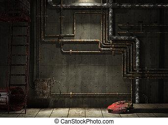 Muro industrial Grunge