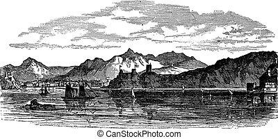 Muscat en grabado antiguo Oman