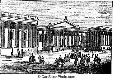 Museo Británico de Londres, Reino Unido (Inglaterra), cosecha que se graba en 1890