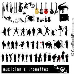 musican, siluetas