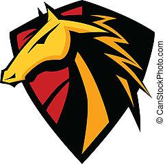 Mustang semental, mascota gráfica
