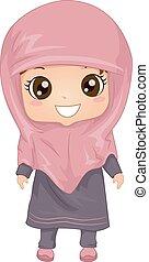 musulmán, vestido