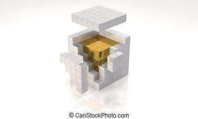 núcleo, oro
