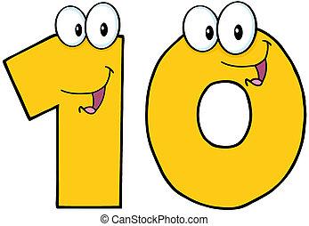 número, diez