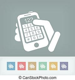 Números de botón de pantalla