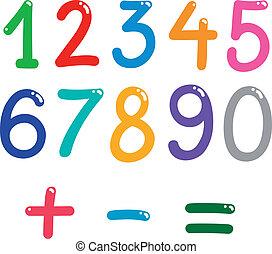 Números de cero a nueve