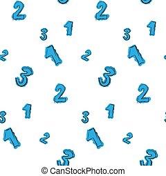 Números pintados con un patrón de color azul descuidado