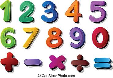 Números y símbolos de matemáticas